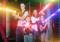 laser gamen met de familie